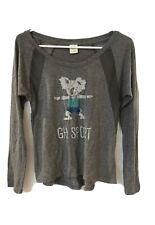 GILLY HICKS Top Womens Size XS Gray Cotton Knit Long Sleeve Shirt