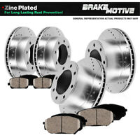 Front And Rear Brake Disc Rotors /& Metallic Pads For 1999 Ford F250 F530 4X4 4WD