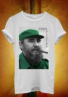 Fidel Castro Cuba Leader Funny Novelty Men Women Unisex T Shirt Tank Top Vest 62