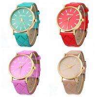 Fashion Women Geneva Roman Watch Leather Band Analog Quartz Gift Wrist Watches