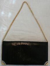 10c78491268dd Damen Abendtasch- Schlangenleder Schwarz - Vintage 50 er Jahre ( Siehe  Bilder )