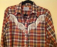 Vintage Rockmount Ranch Wear Womens Pearl Snap Long Sleeve Shirt Custom Fitted