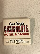 Sam Boyd's California Hotel Casino 325 Rooms Vintage Matchbook Las Vegas Nevada