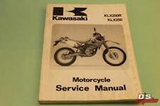 OEM KAWASAKI 1993 KLX250 MOTORCYCLE SERVICE MANUAL PART# 99924-1165-01