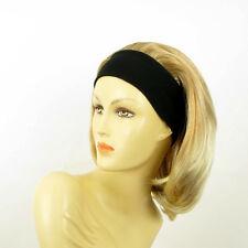 Stirnband Perücke frau mit lang hellblonde Kupfer Docht blond klar MADY 27t613