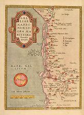 Galliae Narbonensis Ortelius 1579 Original Map France Frankreich Côte d'Azur
