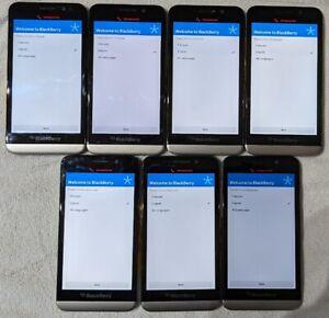 Lot of 7 BlackBerry Z30 Smartphones  - 16GB Black/Grey - Network Unlocked