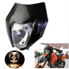 1x Motorcycle Enduro Dirt Bike Headlight Shell Bulb Kit Universal for KTM Suzuki