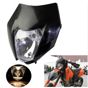 1x Motorcycle Enduro Dirt Bike Headlight Shell Bulb Kit Universal for Suzuki