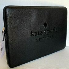 """New Kate Spade New York Sienne Laptop sleeve case up to 15"""" inside Leather Black"""