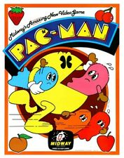 Pac-Man POSTER Midway 1980 Arcade Video Game Rare Large Ghost Fruit Coin-Op
