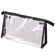 Women Clear Transparent Plastic PVC Travel Cosmetic Make Up Toiletry Bag Zipper