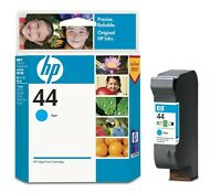 ORIGINAL 2012 DATED HP 44 51644CE CYAN 300 400 750 FAST POSTAGE 2 YEAR GUARANTEE