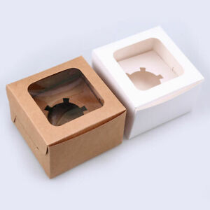 1/12 Hole Cupcake Boxes Muffin Cake Packing Case Party Favour Wedding Container