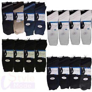 Mens 12 Pairs 100% COTTON Everyday Socks Big Foot Standard UK 6-11,UK 10-13