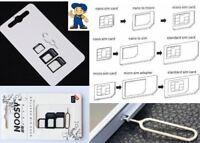Nano SIM Set 4in1 Micro SIM Pin Nadel Karten Adapter Für LG G5 G6 V20 Q8 V30 Nex