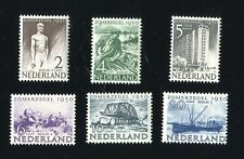 Netherlands 1950 Scott #B208-B213 M NH OG Complete Set . Social & Cultural Works