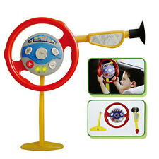 Kid Back Seat Car Steering Wheel Toy Driving Game Horn Electronic Sounds Light