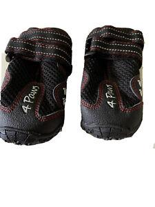 Protective Textile Mesh Non Slip Dog Boots Shoes Rubber Grip Breathable M/L