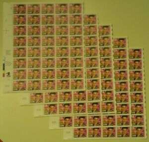 Five (5) Sheets x 40 = 200 of ELVIS PRESLEY 29¢ US USA Postage Stamps. Sc # 2721