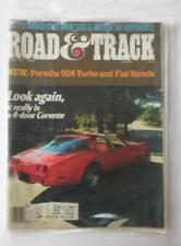 Vintage Road & Track Magazine Feb 1979 4 Door Corvette Porche 924 Turbo BMW 528i