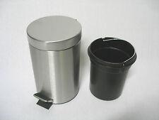 Edelstahl 3 Liter Abfalleimer Mülleimer Treteimer Eimer Kosmetikeimer ab 1 Euro