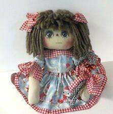 """New Listing Prim Art Doll Raggedy Ann Doll 14 Inch """"Addy"""" With Candy Cane Ornies Ornie"""