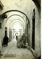 Tunisia Tunisi la Rue, Foto Stereo Vintage Placca Lente VR4L2