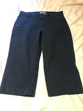 black elastic waist ERIKA  cropped capri denim jeans pants size medium