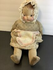 Antique Composition Baby Doll -20� With Clothing