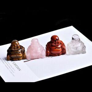 Buddha Statue Home Decoration Feng Shui Room Decor Lucky Charm Quartz Crystal