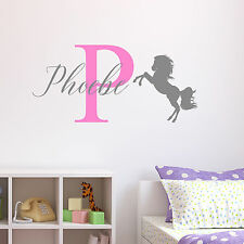 Personalised Horse Wall Sticker Wall Decal Childrens Kids Nursery Bedroom