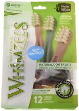 Whimzees Toothbrush Medium 12 Pack - Healthy Vegetarian Gluten Free Dog Chew