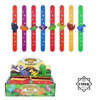 Kids DINOSAUR SLAP BANDS Wrist Snap Party Bag Filler Toy Boys Birthday Gift UK