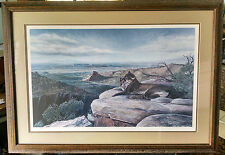Mel Dobson Signed Lithograph Titled TEEC NOS POS CATAMOUNT-Framed/Numbered-1980