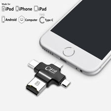 4 in 1 Card Reader For Micro SD/TF External storage For iPhone & Android Phone