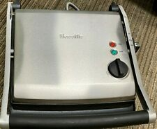 BREVILLE Panini Grill Press BRG200XL Brushed Stainless Steel 1500Watt oven toast