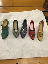 Vintage Lot Of 5 Shoes Heels (Just the Right Shoes, My Treasure) Figurines