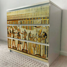 IKEA 3 DRAWERS MALM Egyptian Papyrus Removable Textile Sticker for furniture