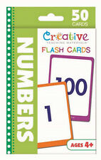 NEW 50 Numbers Flash Cards - Preschool Pre-K Toddler Kindergarten Ages 4+