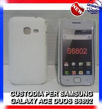 Pellicola + custodia back cover BIANCA per Samsung Galaxy Ace Duos S6802