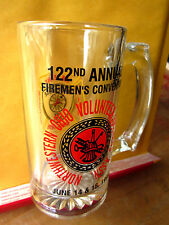 WHITEHOUSE Fire Department beer glass Northwest OHIO convention 1996 volunteer