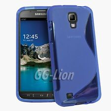 Samsung Galaxy S4 Active,SGH -i537 AT&T TPU Gel Silicone Case Cover Skin in blue