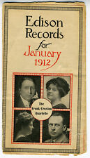 1912 Brochure List of Edison Records for January of that Year