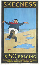 2 x Vintage Holiday Advertising Posters A4 REPRINTS Skegness is so bracing
