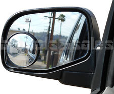 """3"""" Wide Angle Convex Blind Spot Rear Side View Mirrors Car Truck Universal Fit"""