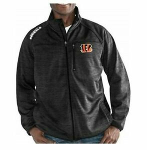G-III Sports Cincinnati Bengals Men's Mindset Full Zip Jacket - Charcoal