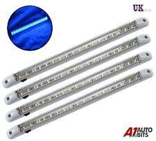 4 X BLUE LED 24V LIGHT STRIP BAR 400MM LORRY BOAT TRUCK TRACTOR YACHT CAMPER VAN