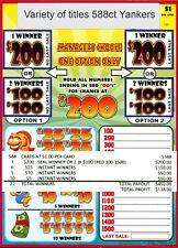 588ct 1W $1.00 Assorted Titles Bingo/Jar Tickets seal card, pull tab