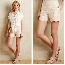 {Anthropologie} Scalloped Lacework Shorts size 6